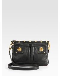Marc By Marc Jacobs | Black Percy Turnlock Crossbody Bag | Lyst