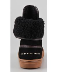 Marc By Marc Jacobs - Black Zip Front High Top Sneakers - Lyst