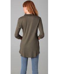 Splendid | Green Pocket Blouse | Lyst