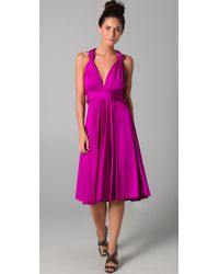 Twobirds | Purple Tea Length Convertible Dress | Lyst