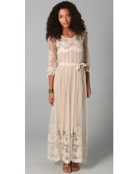 Zimmermann | Natural Trivial Embroidered Maxi Dress | Lyst