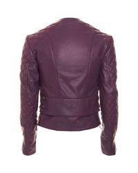 Balenciaga - Purple Motorcycle Jacket - Lyst