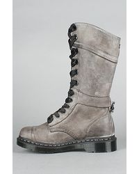 Dr. Martens - Gray The Triumph 14-eye Boot in Black - Lyst