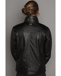 G-Star RAW - The Dryden Leather Jacket in Black for Men - Lyst
