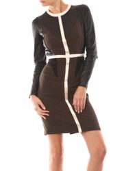 Givenchy | Multicolor Leather and Wool Dress | Lyst