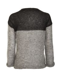 Isabel Marant - Gray Mohair Colorblock Sweater - Lyst