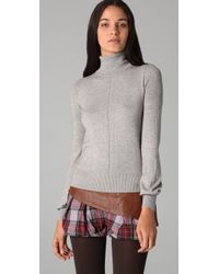 L.A.M.B. - Gray Turtleneck Sweater - Lyst