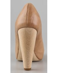 Loeffler Randall - Natural Esther Platform Pumps - Lyst