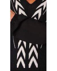 The Addison Story | Black Deco Pattern Sweater | Lyst