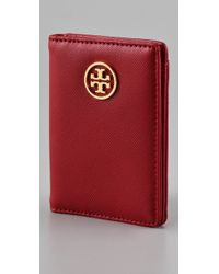 Tory Burch | Red Saffiano Robinson Transit Pass Holder | Lyst