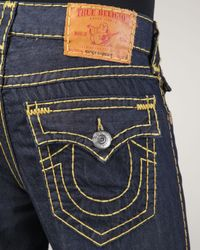 True Religion | Blue Ricky Super T Body Rinse Jeans for Men | Lyst