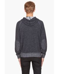 Yigal Azrouël - Gray Overdyed Knit Hoodie for Men - Lyst