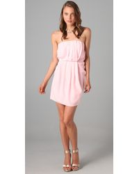 Zimmermann | Pink Folding Strapless Dress | Lyst