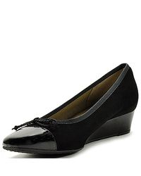 French Sole - Diverse - Black Suede Wedge - Lyst