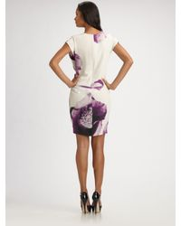 Robert Rodriguez - Purple Clematis-print Faux-wrap Dress - Lyst