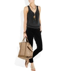 Juicy Couture - Black Silk and Velour Jumpsuit - Lyst