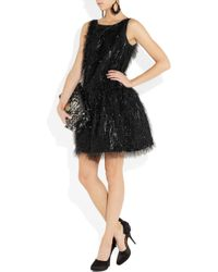 Boutique Moschino | Black Tinsel-effect Lamé Dress | Lyst