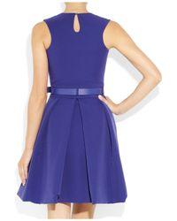 Preen By Thornton Bregazzi   Blue Grace Pleated Stretch-crepe Dress   Lyst