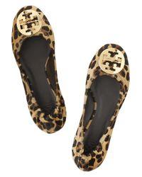 Tory Burch - Brown Reva Leopard Ballerinas - Lyst