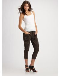 7 For All Mankind | Green Aviator Wren Cargo Pants | Lyst