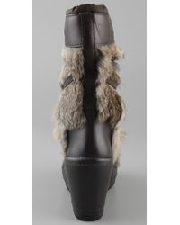 Ash - Brown Zubroska Apres Ski Fur Boots - Lyst