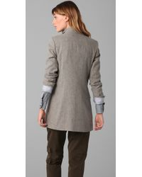 Boy by Band of Outsiders - Gray Military Jacket - Lyst