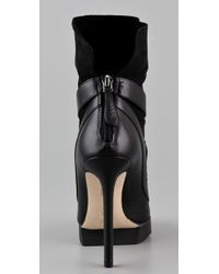 Camilla Skovgaard | Black Cross Strap Saw Booties | Lyst