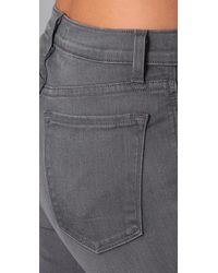 J Brand - Gray High Rise Flare Jeans - Lyst