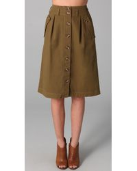 Madewell - Green Regiment Skirt - Lyst