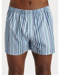 Paul Smith | Blue Classic Stripe Woven Boxer Short for Men | Lyst