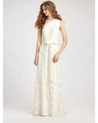 Tadashi Shoji | White One-shoulder Lace Gown | Lyst