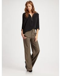 Vince | Brown High-waisted Wide-leg Pants | Lyst