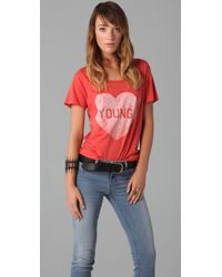 Zoe Karssen | Red Young Heart T-shirt | Lyst