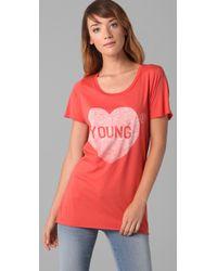 Zoe Karssen - Red Young Heart T-shirt - Lyst