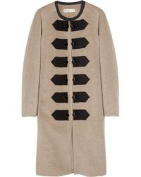Clements Ribeiro - Brown Wool and Alpaca-blend Felt Coat - Lyst