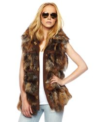 Michael Kors | Brown Fox Lodge Vest | Lyst