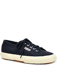 Superga | Blue Canvas Platform Sneaker | Lyst