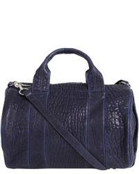 Alexander Wang   Blue Neptune Textured-leather Shoulder Bag   Lyst
