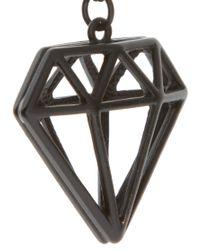 ASOS Collection - Black Asos Geometric Diamond Pendant Necklace for Men - Lyst