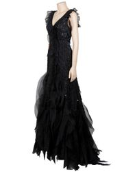 Carolina Herrera - Black Scattered Crystal Gown - Lyst