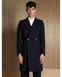Dries Van Noten | Blue Mens Rayce Coat for Men | Lyst