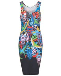 Jonathan Saunders | Multicolor Fitted Bird Print Tank Dress | Lyst