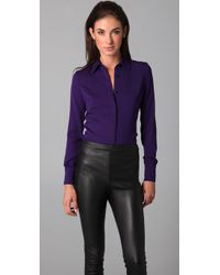 Kevork Kiledjian - Purple Long Sleeve Tailored Shirt - Lyst