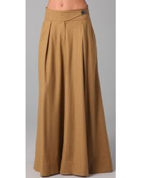L.A.M.B. | Brown A Line Maxi Skirt | Lyst