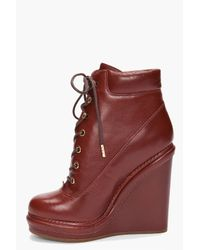 Marc By Marc Jacobs - Red Mocasso Wedge Boots - Lyst