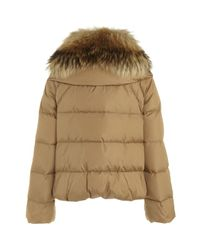 Moncler | Natural Sauvage Short Quilted Jacket | Lyst