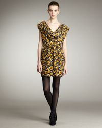 Parker | Yellow Printed Dress | Lyst