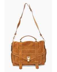 Proenza Schouler - Brown Ps1 Large Suede - Lyst