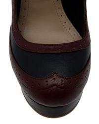 Raoul - Black Brogue Detail Heels - Lyst