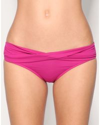 Seafolly | Purple Goddess Twist Band Hipster Bikini Briefs | Lyst
